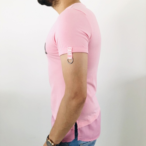 T-shirt homme rose fashion